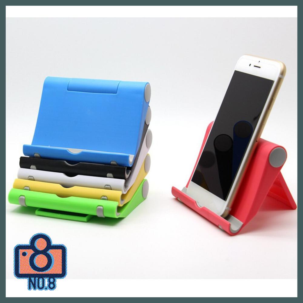 No.8 แท่นวางมือถือ ที่วางมือถือ ที่วางโทรศัพท์ ที่ตั้งโทรศัพท์ ปรับได้ น้ำหนักเบา พับเก็บได้ มีหลายสี.