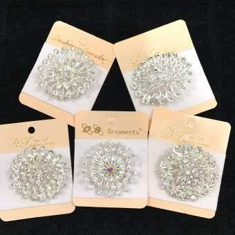 Vintage Jewelry เข็มกลัด ลายดอกไม้ แฟชั่น คลาสสิก เข็มกลัดเพชร สิเงิน1pcs