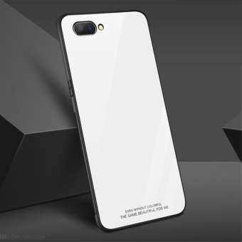 Tempered Glass Case Silicone Frame Glass Hard Back Cover For เคสโทรศัพท์ Realme C1-
