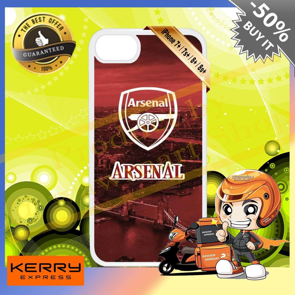 (เตรียมส่งใน 1-3 วันทำการ) ร้าน ขาย เคส มือ ถือ สำหรับ I Phone 7 / 7 Plus / 8 / 8 Plus / 7 พลัส / 8 พลัส Custom Diy Design White A72 Hd Print สกรีน พิมพ์ลาย ทีม Arsenal Football Club ไอ้ปืนใหญ่ พรีเมียร์ลีก วัสดุ ซิลิโคน Tpu แบบนิ่ม ราคาถูกมากก.