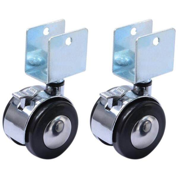 4Pcs 2 Inch Crib Casters Cabinet Clamp with Brake Wheels Nylon Furniture Hardware Fittings