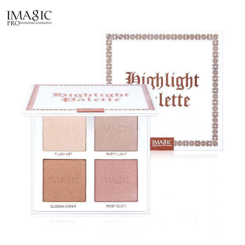 Imagic ไฮไลท์ บรอนเซอร์ หน้าสว่าง ฉ่ำวาว มี 4สีให้เลือก Imagic Highlighter Powder Palette Shimmer Face Contouring Highlighters Face Bronzer Makeup 4 Colors Contour Brighten Skin Fa118.