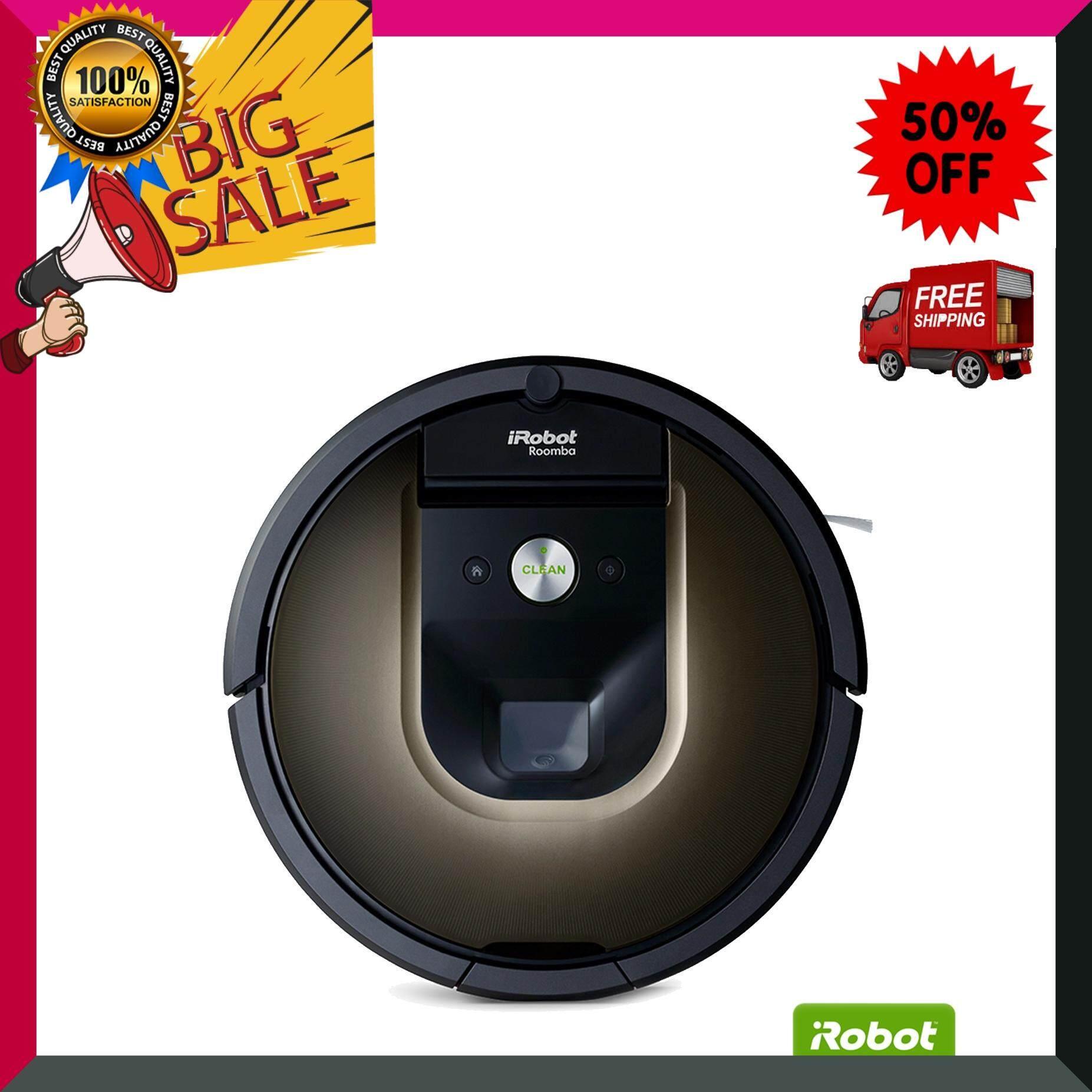 iRobot หุ่นยนต์ทำความสะอาด รุ่น Roomba 980 สีน้ำตาล เครื่องดูดฝุ่น เครื่องทำความสะอาด เครื่องดูดฝุ่นอัตโนมัติ หุ่นยนต์ดูดฝุ่น Vacuum Cleaner สินค้าคุณภาพ Premium ***จัดส่งฟรี***