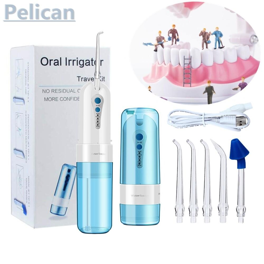 เครื่องทำความสะอาดฟัน เครื่องฉีดน้ำทำความสะอาดฟัน ไหมขัดฟัน Dental Water Jet แบบพกพา Waterpulse Water Flosserเหมาะสำหรับคนที่จัดฟัน ขนาดพกพา ความจุน้ำ 150 มล. ปรับความแรงน้ำ 3 ระดับ ปากสะอาดใน 1 นาที ฟรี 5 หัวฉีดเดิม.
