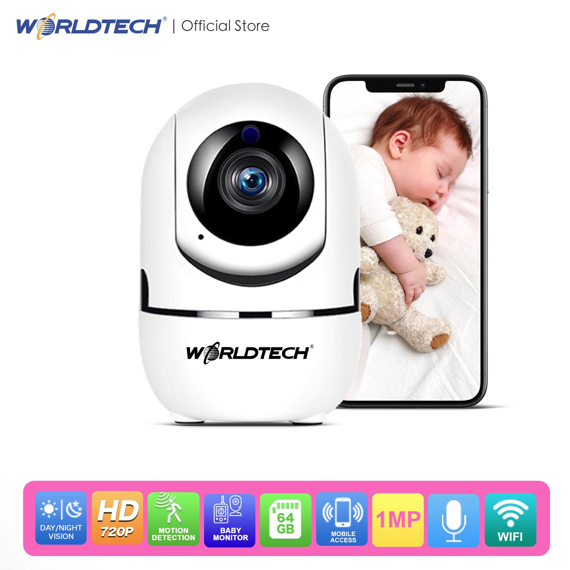 ซื้อที่ไหน Worldtech รุ่น WT-CCM010-720P-BM กล้องดูเด็ก Baby Monitor CCTV Robot HD 720p Wireless IP CAMERA ความชัด 1MP