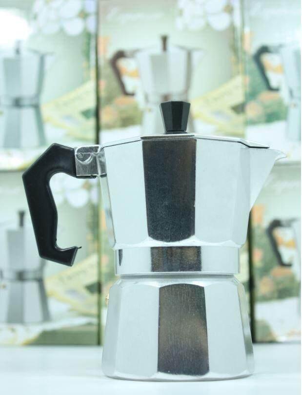 กาต้มกาแฟสดเครื่องชงกาแฟสด Moka Pot แบบปิคนิคพกพา ใช้ทำกาแฟสดทานได้ทุกที ขนาด 3 Cup 150 ml (สีเงิน)  - ac3e44d299205839b8458a9f5d0ae9c7 - แนะนำเครื่องชงกาแฟชุดเล็ก สำหรับเริ่มต้น