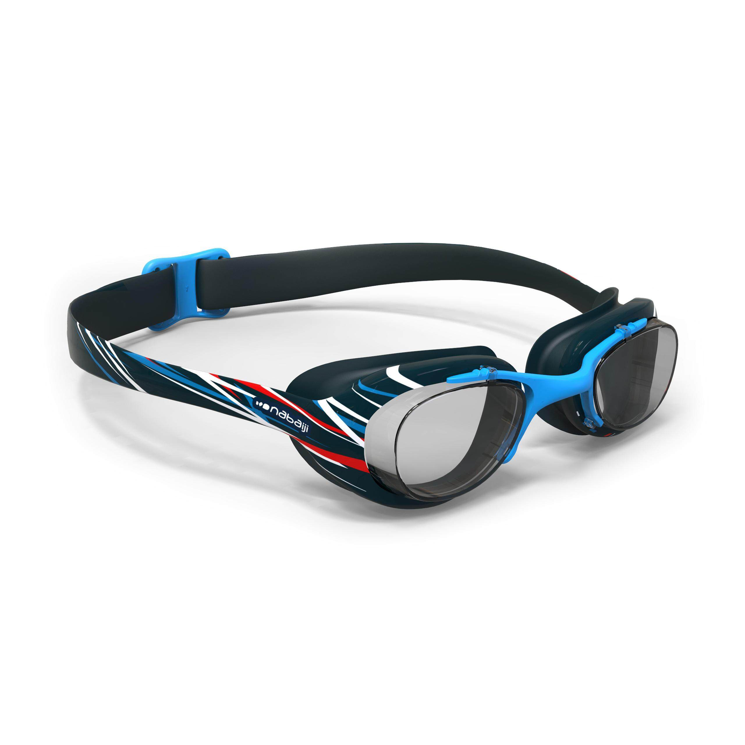 [ด่วน!! โปรโมชั่นมีจำนวนจำกัด] แว่นตาว่ายน้ำรุ่น 100 XBASE PRINT ขนาด L (สีฟ้า MIKA) สำหรับ ว่ายน้ำ