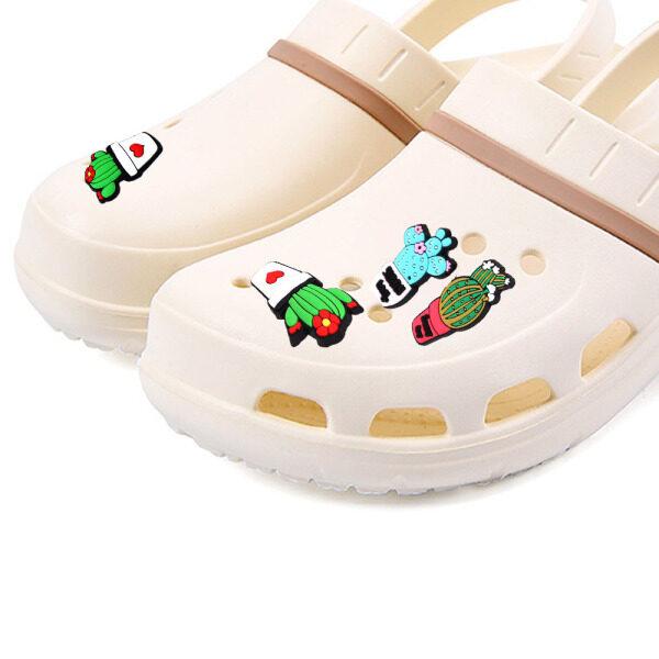 Giá bán JIAWEIS Giày Trẻ Em PVC Dễ Thương, Trang Trí Giày Phụ Kiện, Cây Xương Rồng Quyến Rũ Giày