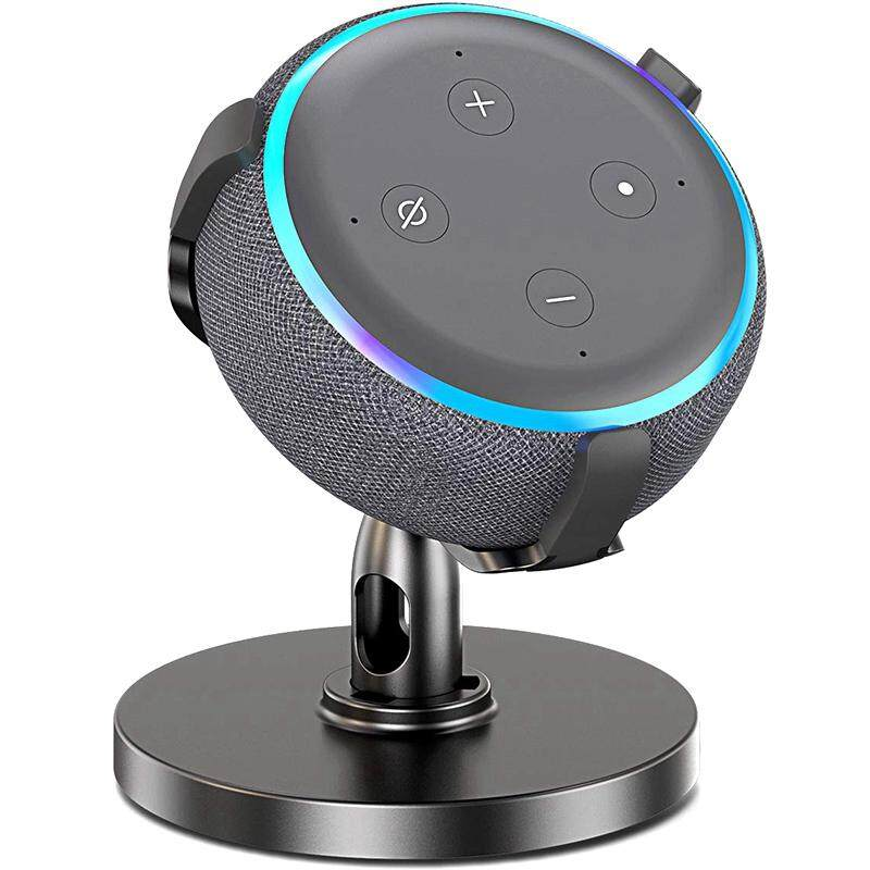 Table Holder For Echo Dot 3Rd Generation, 360° Adjustable Stand Bracket Mount For Smart Home Speaker, Improve Sound Visibility And Appearance, Dot Accessories (Black)