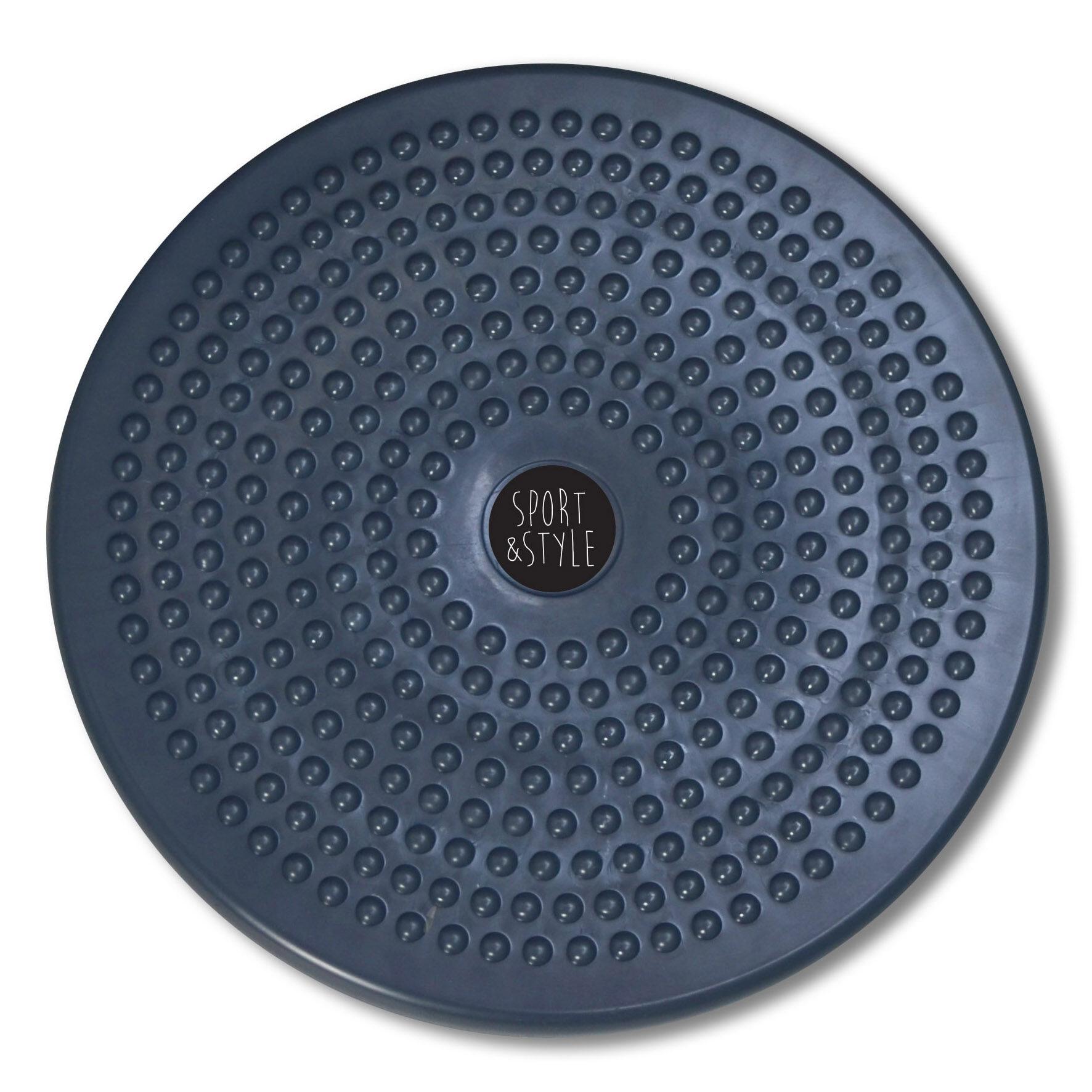 จานทวิส จานทวิสต์ จานทวิสหมุนเอว จานทวิสต์ 80 กิโล จานทวิสเตอร์ จานทวิสใหญ่ จานทวิสต์ 12 นิ้วจานหมุนเอว สีเทา / Twist Disc Board / Gray.