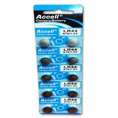 ขาย ซื้อ Accell ถ่านกระดุมอัลคาไลน์ ขนาด Lr44 A76 1 5V สำหรับกล้องดิจิตอล แตรไฟฟ้าจักรยาน อุปกรณ์กันขโมยรถยนต์ นาฬิกา 10 ก้อน ใน กรุงเทพมหานคร