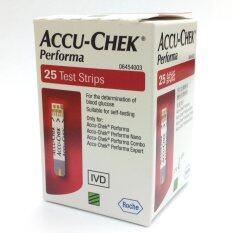 ราคา Accu Chek Performa Test Strip แผ่นตรวจน้ำตาล 1 กล่อง 25 ชิ้น กล่อง ถูก