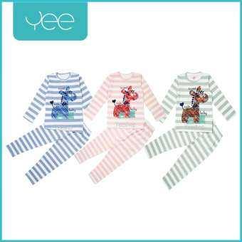 YeeShop ชุดเสื้อผ้าเด็กผู้ชาย/เด็กผู้หญิงแขนยาวเข้าชุด ลายยีราฟลายทาง หลากสี หลากไซซ์ (0-3years) 90#/S 100#/M 110#/L 120#/XL 130#/XXL-