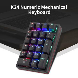Bàn Phím Cơ Số Motospeed K24 Bàn Phím Có Dây USB 21 Phím Với Công Tắc Màu Xanh Lam Hiệu Ứng Ánh Sáng RGB 13 thumbnail