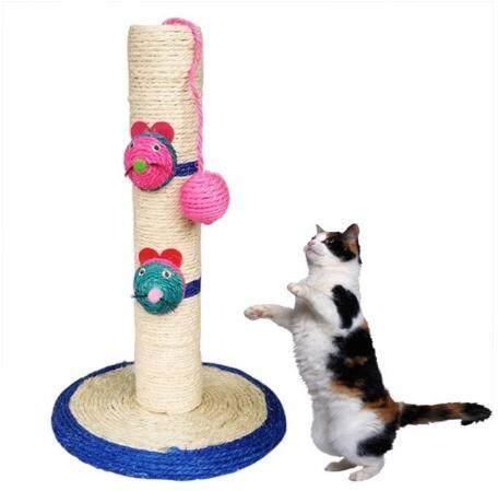 เสาข่วนแมว ที่ลับเล็บแมว ที่ฝนเล็บแมว ของเล่นแมว อุปกรณ์สัตว์เลี้ยงแถมฟรีcatnip.
