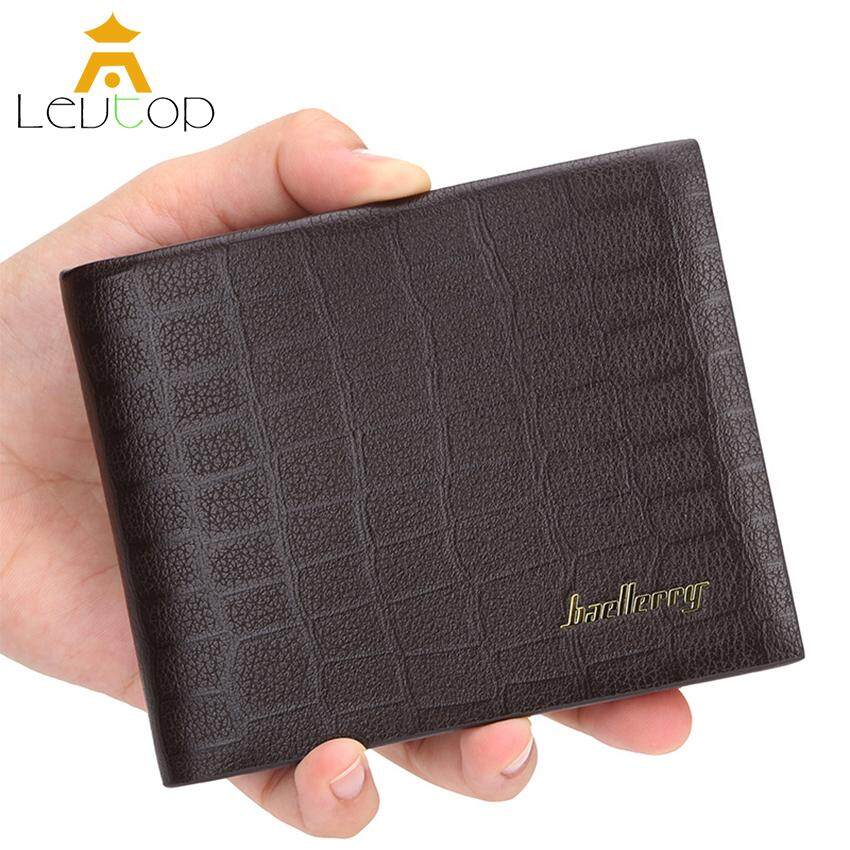 Classic Mens PU Leather ID credit Card holder Bifold Coin Purse Wallet