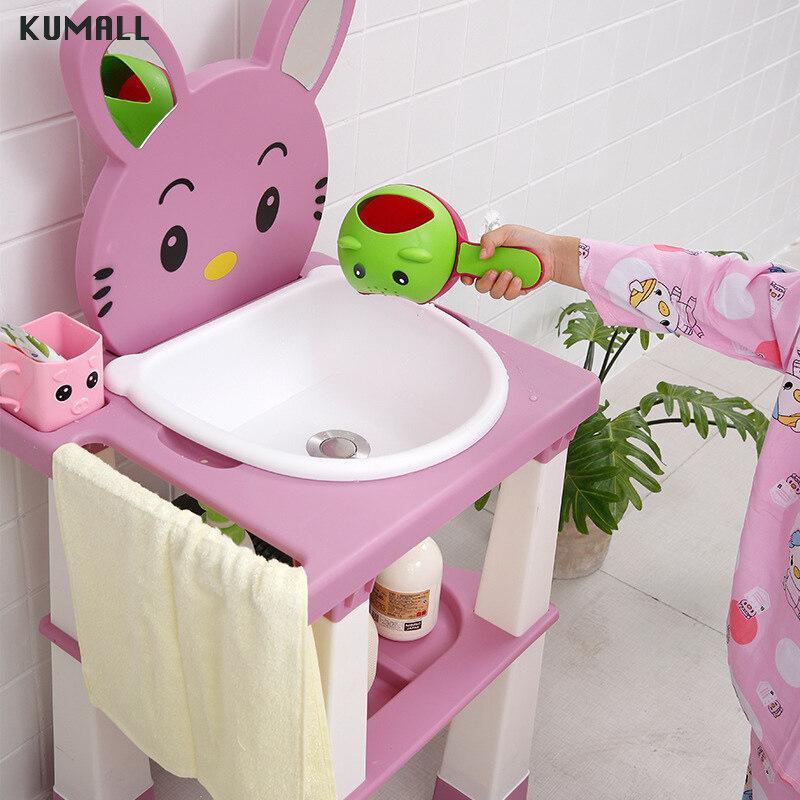 แนะนำ OZOOPU อ่างล้างหน้าเด็กหูกระต่าย มีท่อระบายน้ำทิ้ง อ่างล้างหน้าเด็ก Children washstand