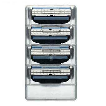 แนะนำ Gillette Mach3 Razor Blade Refill Cartridges for Mach 3 Razor ( 4 Cartridges Pack ) ใบมีดโกน 1 แพ็คมี 4 ชิ้น ไม่มีกล่องจะถูกแบ่งจากแพ็คเกจ 8ชิ้น