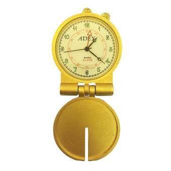 ADEX Quartz Alarm นาฬิกาพก/ตั้งโต๊ะ - สีทอง หน้าปัดสีครีม พร้อมกล่อง