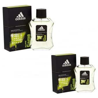 Adidas Pure Game For men 100 ml. แพคคู่ ( พร้อมกล่อง  )-