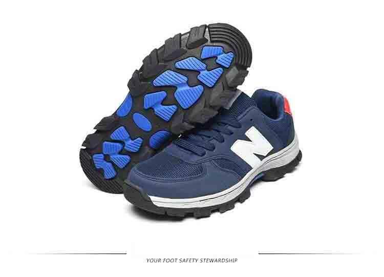 Safety shoes รองเท้าเซฟตี้ผ้าใบผสมหนัง หัวเหล็ก ระบายอากาศดี พื้นยางกันลื่น หัวเหล็ก พื้นเสริมแผ่นเหล็ก เหมาะสำหรับทั้ง ชาย และ หญิง unisex