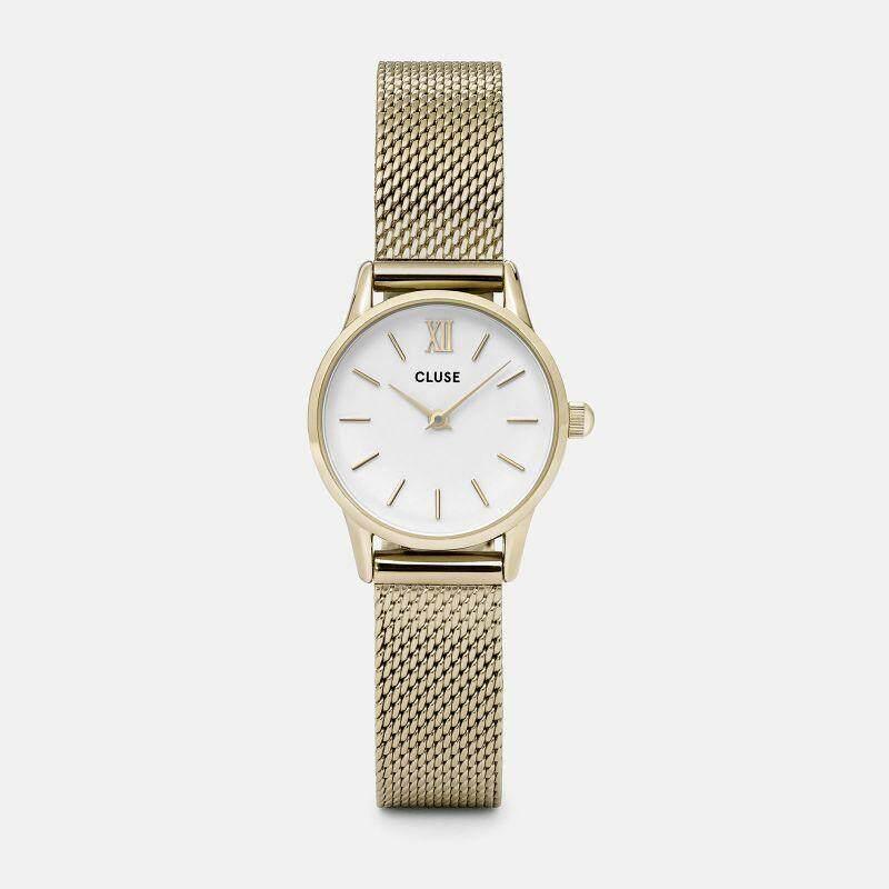 Original Cluse Watch La Vedette Mesh Gold/White 24 mm Malaysia