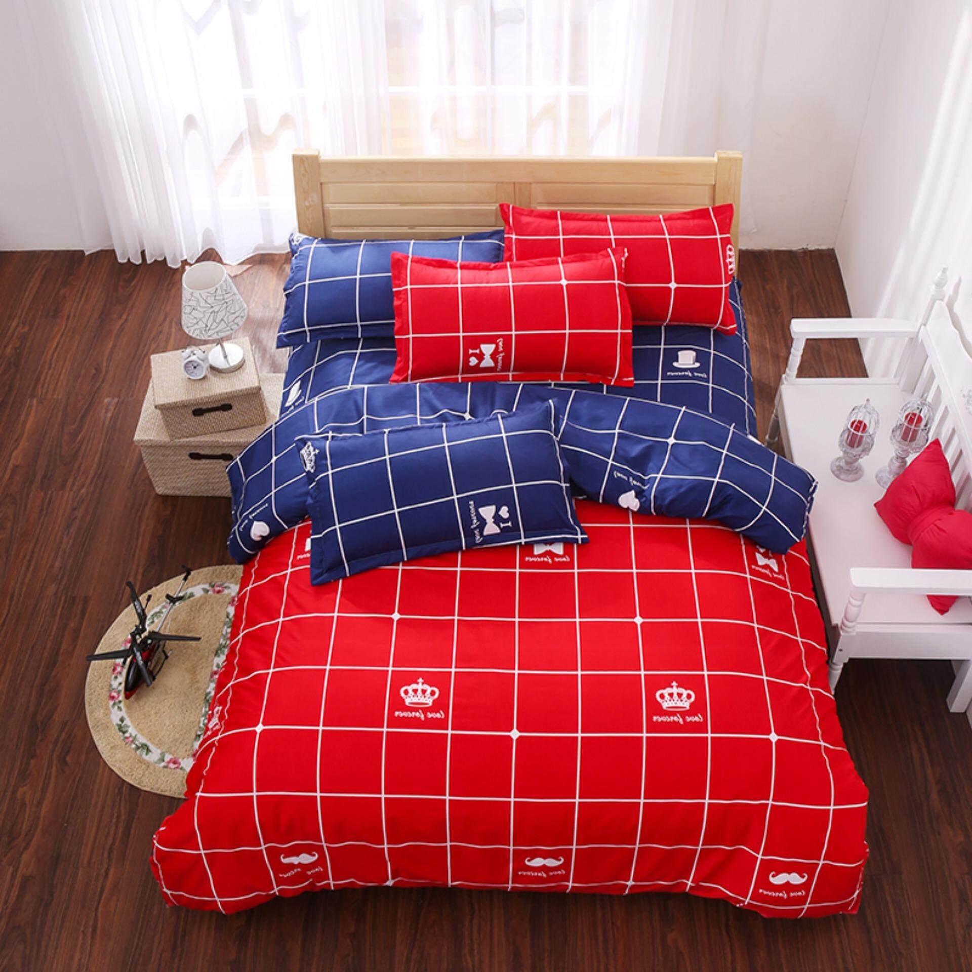 ผ้าปูที่นอน 6ฟุต 5ชิ้น รัดมุม Fitted Sheet (ไม่มีผ้าห่ม) By Misshouse 1988.