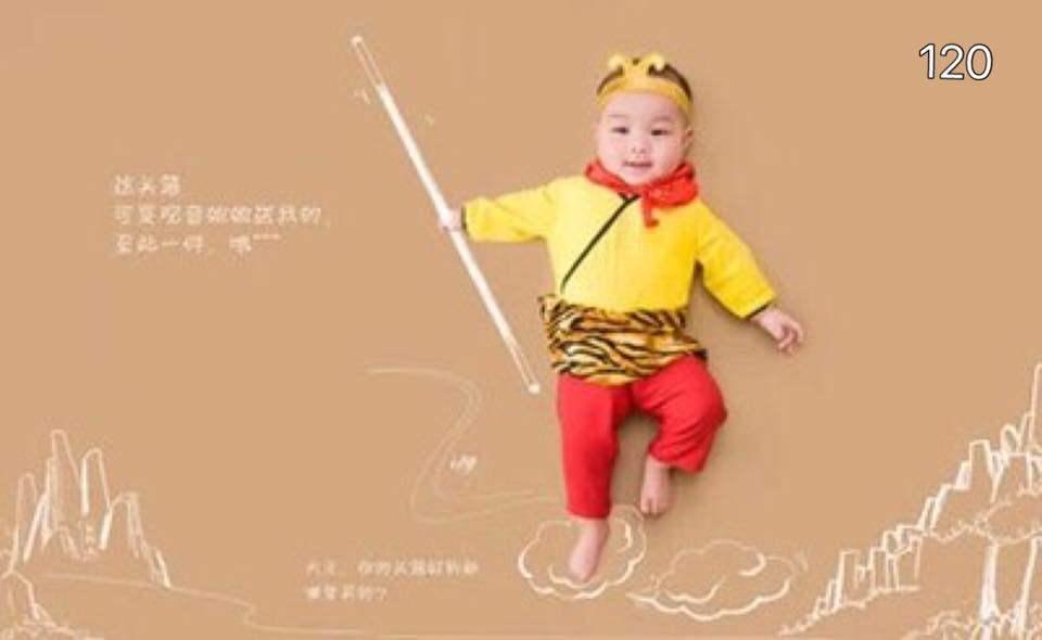 ราคา พร้อมส่ง!! ชุดแฟนซีเด็ก ชุดจีนลิงหงอคง (Monkey) Baby Fancy By Tritonshop