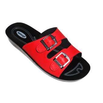 aerosoft รองเท้าแตะผู้หญิง PU นุ่มสบาย A2101 สีแดง