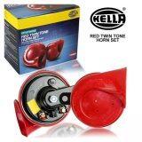 ราคา แตร Hella แท้ 100 สีแดง มีอุปกรณ์ครบชุด ติดตั้งง่าย มีวิดีโออธิบายการติดตั้ง เป็นระบบเสียง Twin Tone มีคลิปเสียง 84 Racing Red Hella ใหม่