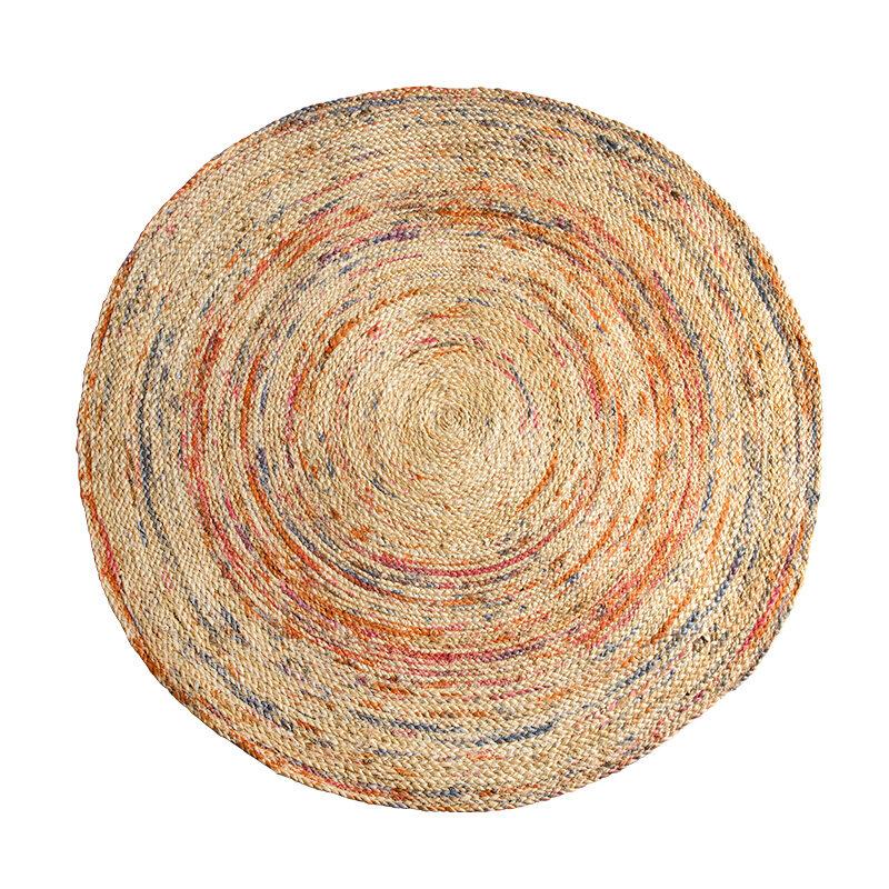 India Imported Round Carpet Jute Hand