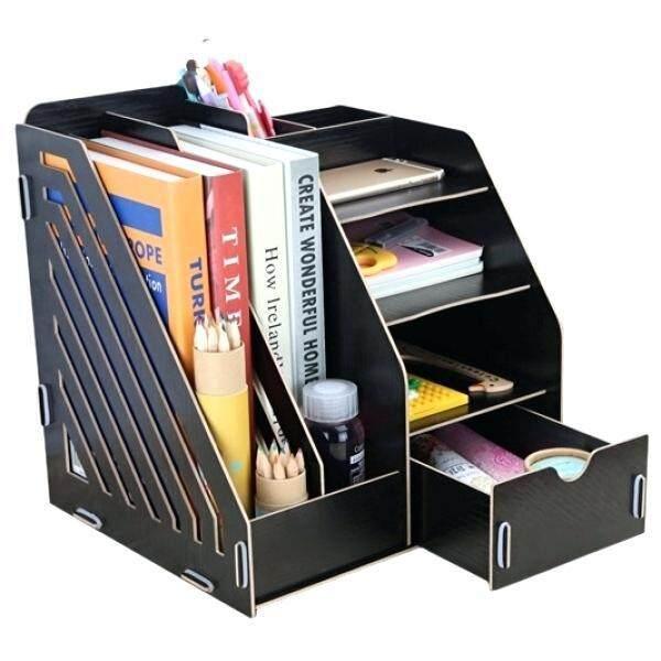 ชั้นจัดวางของ ชั้นวางเอกสารสำนักงาน ชั้นวางของใช้สำนักงาน (สีดำ) By Best Seller Shop.