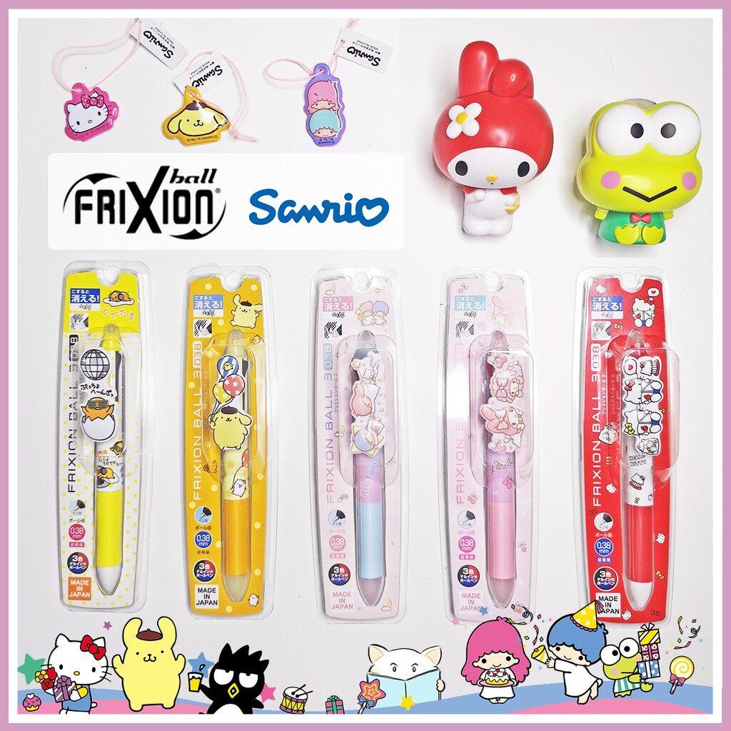 โปรโมชั่น มีของแถม  ปากกาลบได้ 3 สี Pilot Frixion Ball 3 X Sanrio ราคาถูก ปากกา ปากกาหมึกซึม ปากกา เมจิก ปากกาลูกลื่น.