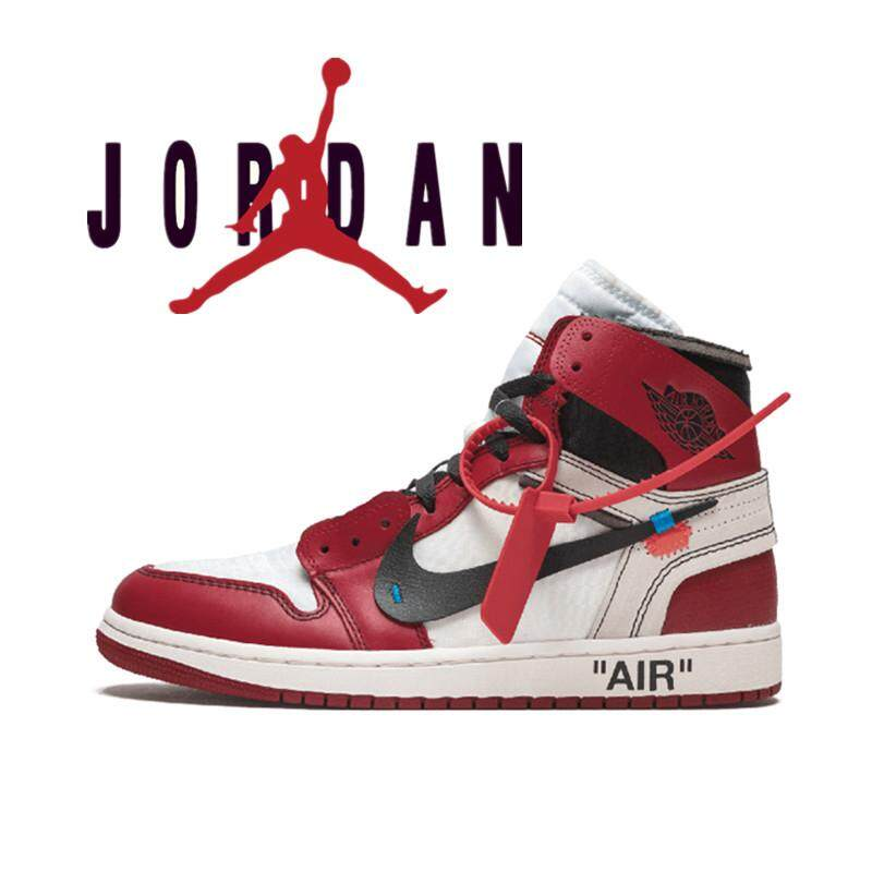 the best attitude 1ffd1 d3b17 Nike Air Jordan 1 x OFF WHITE joint name AJ1 men's shoes basketball shoes  women's sports shoes running shoes
