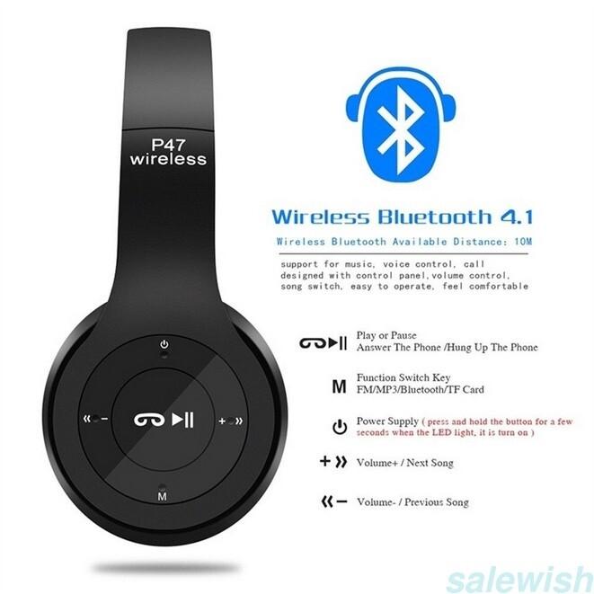 Bluetooth Stereo Headset หูฟังบลูทูธไร้สาย รุ่น P47 หูฟังบลูทูธไร้สาย หูฟังบลูทูธ หูฟังลูธjbl หู ฟัง บ ลู ทู ธ Sony หู ฟัง บ ลู ทู ธ Iphone หู ฟัง บ ลู ทู ธ Samsung บ ลู ทู ธ หู ฟัง.