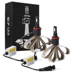 ซื้อ ไฟหน้ารถยนต์ H8 H9 H11 Auto Led Headlight Conversion Kit 60W 6400Lm Cob Xm L2 Led Light Bulb 6000K Cool White W Heat Dissipation Copper Bel ใน Thailand