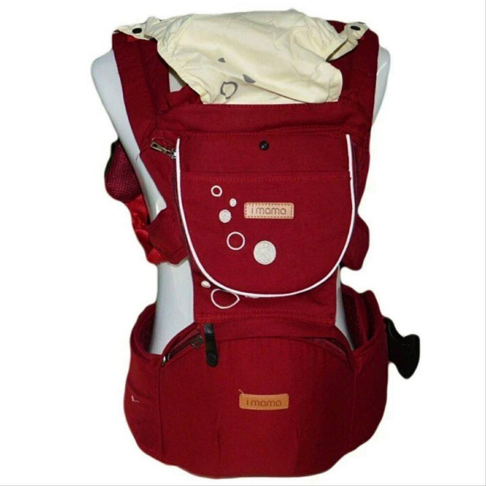 แนะนำ aimama เป้อุ้มเด็ก เป้สะพายเด็ก Hip Seat i mama Baby Carrier i mama รุ่นขายดี สีแดง