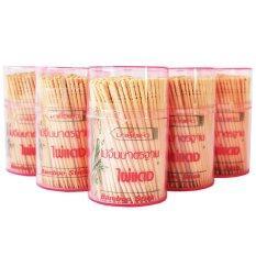 ไม้จิ้มฟัน คอทเทล อนามัยไผ่แดง 380,sanitation Toothpick380 ( 1x12 ).