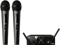 AKG ไมค์ลอยคู่ WMS40 Pro Mini 2 Wireless Microphone - Black