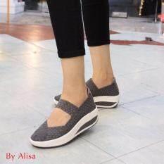 ซื้อ Alisa Shoes รองเท้าผ้าใบแฟชั่นComfortเพื่อสุขภาพ รุ่น F790 2 Grey Eu 36 Alisa ถูก