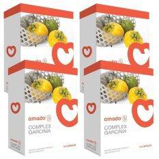 ส่วนลด Amado S Garcinia อมาโด้ เอส กล่องส้ม รุ่นใหม่ 4กล่อง Amado ใน ไทย