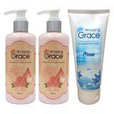 ทบทวน Amazing Grace ครีมอาบน้ำแบบ Home Spa สูตรWhitening Vitamin C Antiaging Antioxident 2 ขวด 300 Ml Amazing Grace Whitening Body Serum Anti Aging Anti Oxidant 1หลอด หลอดละ 190 Ml Amazing Grace