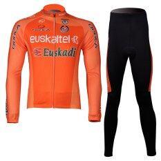 Amur Leopard Cycling Jersey Set Long Sleeve Jersey Padded Shorts ใน จีน