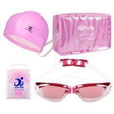 ราคา Anti Water And Fog Chain Plugs Uv400 Goggles Big Frame Electroplating Swimming Glasses For Men And Women Purple เป็นต้นฉบับ Unbranded Generic