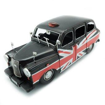 Antique Room โมเดลรถของเล่น รถสะสม รถเก่ารุ่น BLACK AUSTIN ปี 1966 แต่งเป็นรถ TAXI ขนาด Scale 1:12
