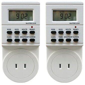 AP ปลั๊กไฟ ตั้งเวลา ระบบดิจิตอล รุ่น TS-ET1แพ็ค 2 (White)