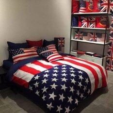 ขาย Apk ชุดผ้าปูที่นอน 5 ชิ้น พร้อมผ้านวมหนา 3 5 ฟุต รุ่น N3 10 ลายธงชาติ อเมริกา ผู้ค้าส่ง