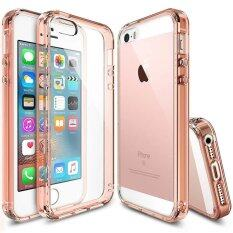 Apple Hybrid Protective antishock case สำหรับ iPhoneSE/5/5S สีชมพูใส (Rose Gold)