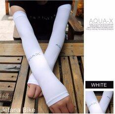 ความคิดเห็น Jetana Aqua X ปลอกแขนกันแดด ใส่แล้วเย็น สำหรับกิจกรรมกลางแจ้ง Cool Arm Sleeves Uv Protection สีขาว Free Size ใช้ได้ทั้ง ชายและหญิง