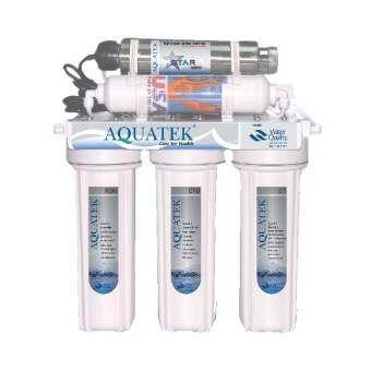 Aquatek USA เครื่องกรองน้ำ 5 ขั้น ระบบ UV 11 วัตต์ (รับประกัน 1ปี)-
